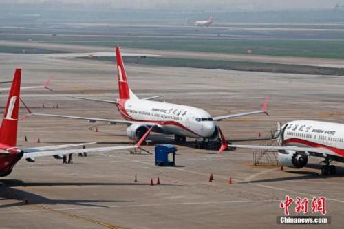 资料图:波音737MAX机型飞机。<a target='_blank' href='http://www.chinanews.com/'>中新社</a>记者 殷立勤 摄