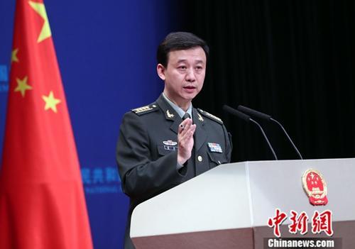 资料图:国防部新闻发言人吴谦。<a target='_blank' href='http://www.chinanews.com/'>中新社</a>记者 宋吉河 摄