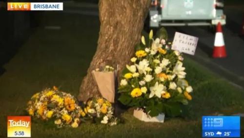 人们用花束寄托哀思。图片来源:澳大利亚九号台新闻