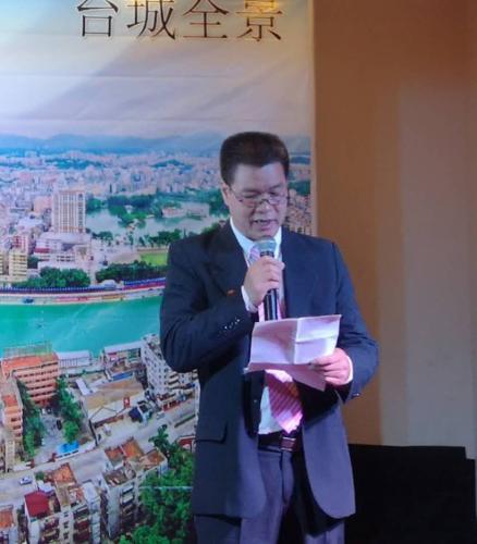 秘鲁台山会馆主席刘超华致词。(图片来源:秘鲁《公言报》)