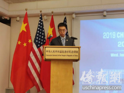 中国驻洛杉矶总领馆新闻组组长高飞。侨报记者李青蔚摄