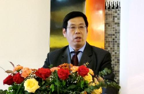中国驻佛罗伦萨总领事王文刚致辞。(图片来源:欧联社记者 胡彪 摄)