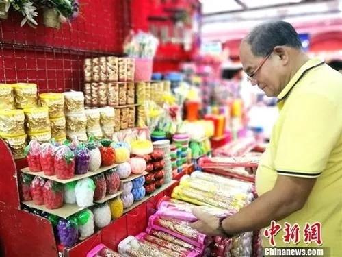 华人超市 图文无关 中新社记者 关向东 摄