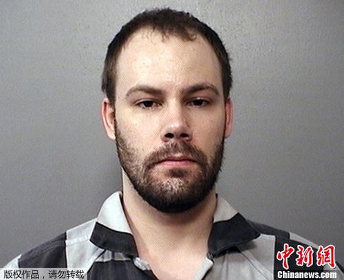 资料图片:涉嫌绑架中国访问学者章莹颖的美国嫌犯克里斯滕森。