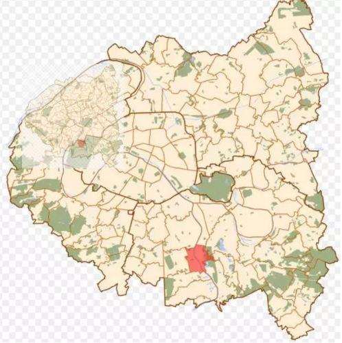 司机将失踪者送到巴黎大区东南部的舒瓦西勒鲁瓦镇。(来源:《欧洲时报》微信公号)