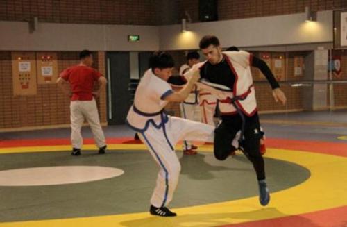 中国跤比赛。(图片来源:中国华文基金会网站)