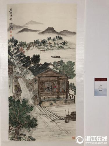 温敬蓉的作品 记者 曾杨希 摄
