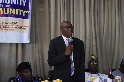 拉各斯州警察公共关系委员会主席Kehinde Showemimo讲话