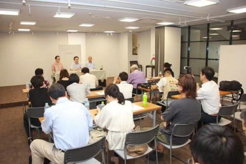 9月9日,旅日华侨华人团体召开新闻发布会。(《日本新华侨报》/郭子川 摄)