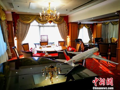 图为陈永栽夫妇自家的马尼拉世纪花园酒店19楼的总统套房。<a target='_blank' href='http://www.chinanews.com/'>中新社</a>发 梁钰 摄