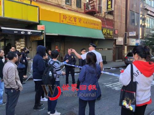 警方到場封街調查。(圖片來源:美國《世界日報》張晨/攝)