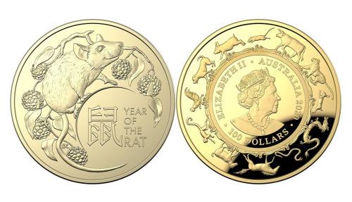 澳年夜利亚皇家铸币厂刊行鼠年岁念币。 (图片滥觞:铸币厂)