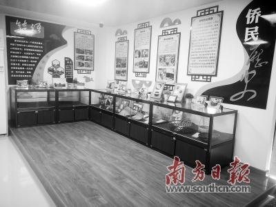 侨文化特色时光馆展示了越南归侨侨眷迁徙发展历史。