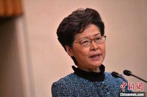 资料图:香港特区行政长官林郑月娥。<a target='_blank' href='http://www.chinanews.com/'>中新社</a>记者 麦尚旻 摄