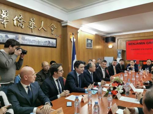巴黎市长候选人格里沃与华人座谈