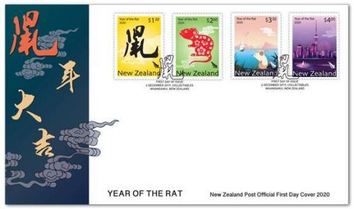 新西兰发行鼠年生肖邮票。(新西兰邮政网站)