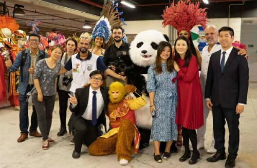 巴西圣保罗著名桑巴舞校狂欢节将融入中国元素