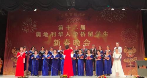 维也纳华人合唱团。(图片来源:中国驻奥地利大使馆微信公众号)