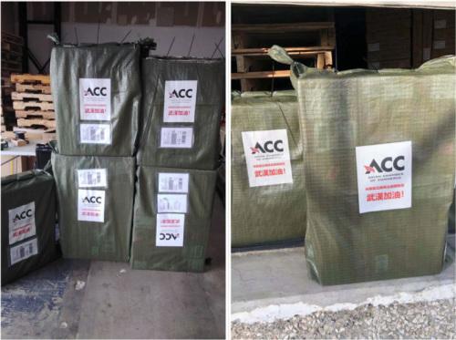 第一批物资已经在2月4日发往中国。休斯敦亚裔商会提供
