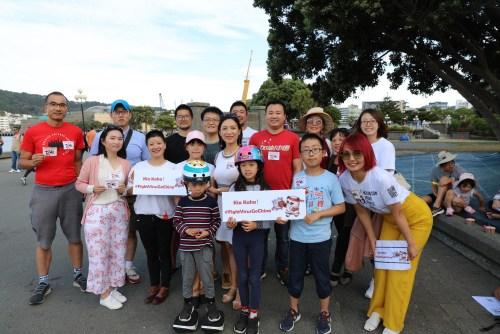 """由新西兰华人发起的""""爱无国界·团结抗疫""""活动在新西兰首都惠灵顿举行。孟韬 摄"""