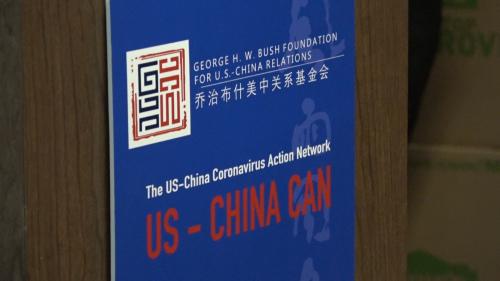 美中抗击新冠病毒行动网络成立。美国中文网记者崔菡摄
