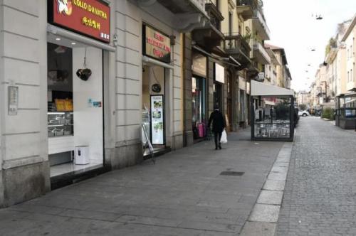 空空荡荡的米兰华人街。(《欧洲时报》夏晓彤摄)