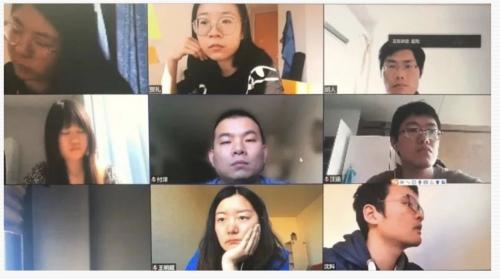 驻比利时使馆举行在比中国留学生同心抗疫视频