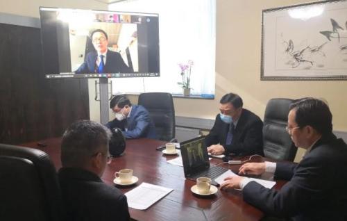 驻荷兰大使同在荷中国留学生代表举行视频会议
