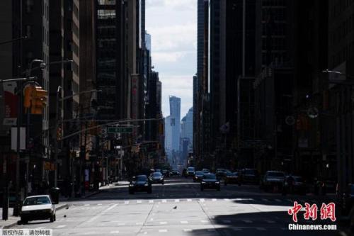 空旷的纽约第六大道。