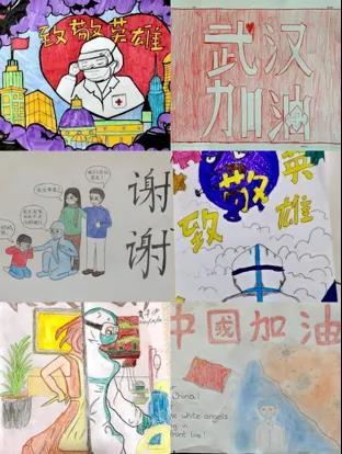 孩子们的绘画作品。(作者供图)