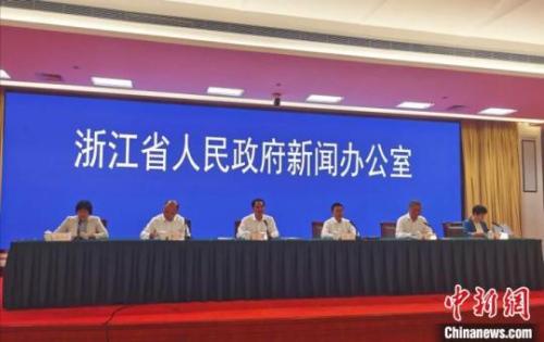 图为浙江省金融服务人才政策举措新闻发布会现场。 胡亦心 摄