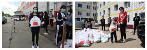 """中国驻哈巴罗夫斯克总领馆向领区华商发放""""健康包"""""""