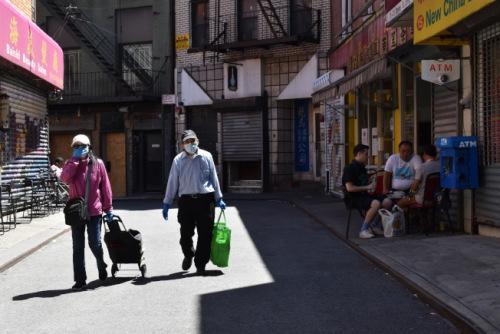 纽约市重启首日曼哈顿华埠人流量明显增大