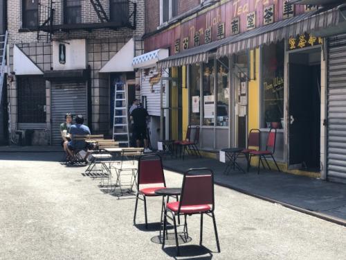 纽约将进入复工第二阶段 华埠中餐馆提供户外就餐