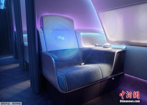 """英国推未来客机舱设计 可用紫外线""""杀死""""病毒"""