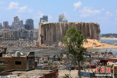 黎巴嫩大爆炸死亡人数上升 废墟建筑遍地可见