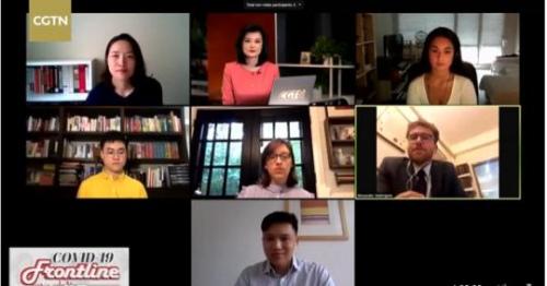 来自中国、美国、英国、泰国、法国的学生在节目中展开交流