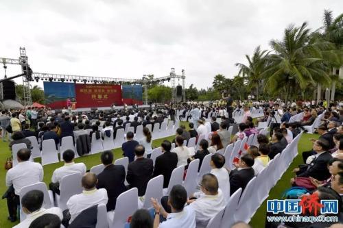 2019年4月1日,第八届海南文昌南洋文化节开幕。骆云飞 摄