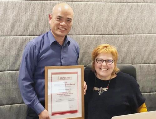 新西兰中医界的最高荣誉奖第一次授予华人中医师。