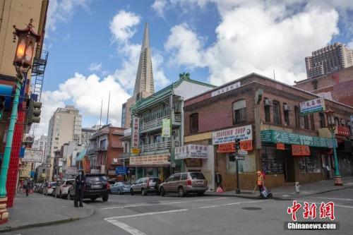 因为几乎没有游客,旧金山知名景点华埠的很多店铺依然大门紧闭。<a target='_blank' href='http://www.chinanews.com/'>中新社</a>记者 刘关关 摄