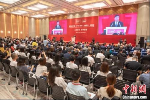 """资料图: 第五届中国(广东)国际""""互联网+""""博览会在佛山举行 龙翔 摄"""