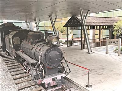 五邑華僑華人博物館內新寧鐵路火車模型。