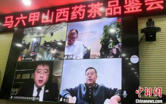 """马来西亚""""山西药茶""""品鉴会通过视频方式举行。受访者供图"""
