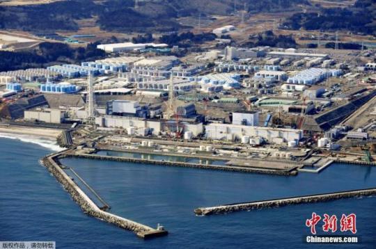 4月13日,日本政府正式决定,福岛第一核电站核污水经过滤并稀释后将排入大海。图为2月13日的日本福岛第一核电站。