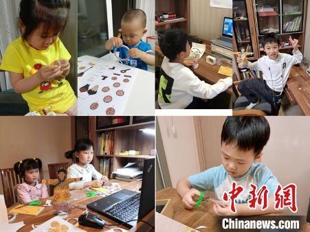 小朋友们认真制作及展示成品。 首尔中国文化中心供图