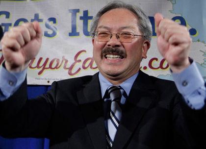 全美最高薪市长 旧金山华裔市长李孟贤