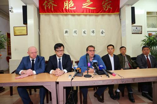 中国侨网新闻发布会现场。(法国《欧洲时报》/黄冠杰 摄)