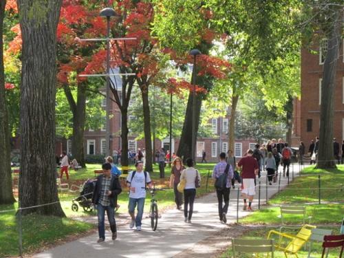 """中国侨网联邦司法部证实正在调查哈佛大学招生是否因""""族裔考虑""""而有种族歧视。(美国《世界日报》记者唐嘉丽/摄影)"""