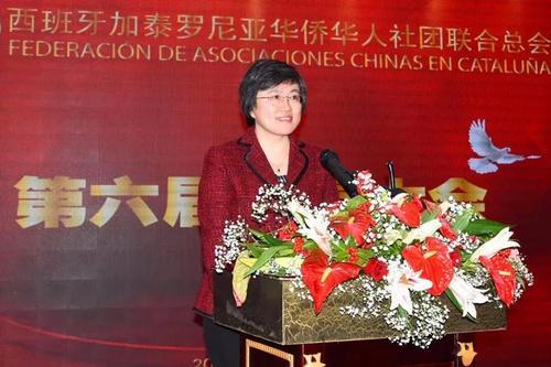 中国侨网驻巴塞罗那总领事林楠出席换届大会并致辞。