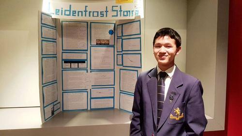 中国侨网Jonathan Chan如今已经入读奥克兰大学。(新西兰天维网)